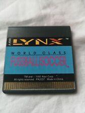 Atari Lynx game- World  Class Fussball soccer (cart only)