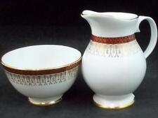 Royal Grafton MAJESTIC MAROON Open Sugar Bowl + Creamer GREAT CONDITION