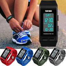 Men Women Sports Bracelet Digital Wrist Watch LED Waterproof Pedometer Calories