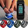 Uomini donne sport digitale orologio polso impermeabile LED contapassi calorie