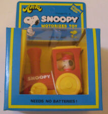 AVIVA SNOOPY TRAIN MOTORISED VINTAGE TOY 1970s BOXED
