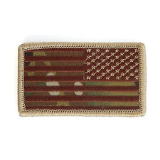 Rothco Reverse USA Flag Patch - Multicam with hook back -New -Made in USA