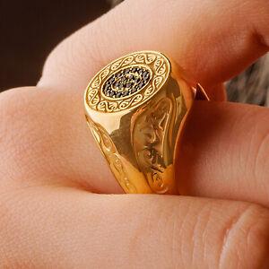 Mens Celtic Ring, Man Silver Celtic Ring, Gold Signet Ring Unique Rings For Men