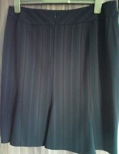 black and red pinstripe skirt, fully lined. size 16