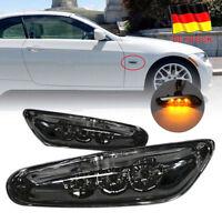 LED Seitenblinker Blinker Dynamisch Black Smoke Design 12V für BW E46 E88 E90