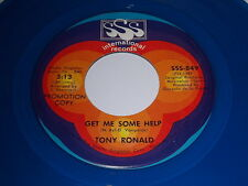 Tony Ronald: Get Me Some Help / Once Upon A Time 45 - Blue Vinyl