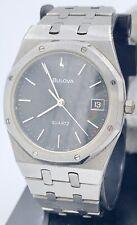 "Rare Vintage Bulova ""Royal Oak"" Quartz Steel Watch With Serviced Movement"