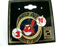 Vintage '98 IS SOLD OUT 3 Years in a Row Cleveland Indians Pin MLB  Wahoo