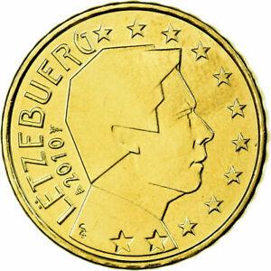 [#699733] Luxembourg, 10 Euro Cent, 2010, SPL, Laiton, KM:89