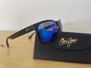 Maui Jim Red Sands Matte Black Blue Hawaii Polarized Sunglasses