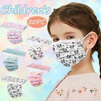 50x Mischen Cartoon Muster Gedruckte Maske Für Kinder Maske Gesichtsvisier
