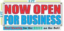 Now Open For Business Banner Sign New Larger Size Best Quality for the $