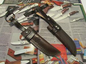 STILETTMSCHEIDE mit Gürtelschlaufe für PUMA Solingen Großes Jagdnicker Messer.
