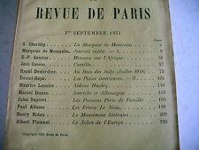LA REVUE DE PARIS n° 17 - 1934 revue littéraire BIDOU DUNAN GAUTIER etc