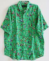 Polo Ralph Lauren Big & Tall Mens Green XLT Linen S/S Button-Front Shirt NWT XLT