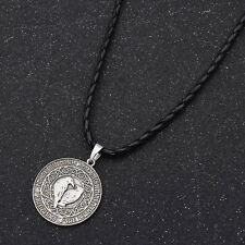 Norse Vikings Raven Amulet Pendant Necklace Sweater Chain Rope Fashion Jewelry