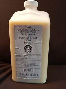 Starbucks White Chocolate Mocha Sauce (Syrup) NEW 63 oz BB 07/2020 (no pump)