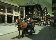 CH 3920 Zermatt    Hauptstraße mit Post und Kutsche  1986