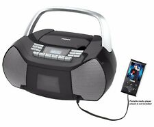 Naxa Portable Stereo CD Cassette Player AM FM Boombox with Aux input