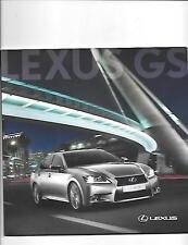 LEXUS GS MODELS FULL RANGE SALES BROCHURE MAY 2012
