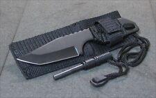 DEFENDER SURVIVAL CAMP KNIFE WITH MAGNESIUM FIRE STARTER
