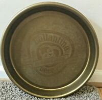 "VINTAGE Gold 1970S Large 13"" BALLANTINE BEER SINCE 1840 PLASTIC TRAY"