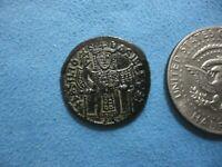 BASIL I, AE Follis, 867-886 AD, Constantinople.NICE DETAILS.FREE S/H