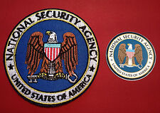 NSA ( NATIONAL SECURITY AGENCY) 85mm EMBROIDERED PATCH + FREE PHONE STICKER