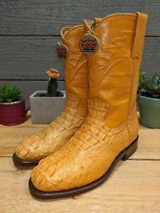 Los Altos Hornback Caiman Mantequilla ButterCup size 6 E Men's Cowboy Boots