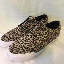 Globe Leopard Print Men's Skate Shoes The Taurus Size US 13 UK 12 White EUC