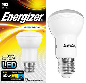 Energizer R63 or R80 Reflector LED Energy Saving Light Bulb ES E27 Screw Cap