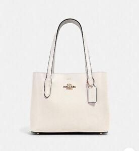 Coach Mini Avenue Carryall Crossbody Bag - Gold/Chalk Light Saddle