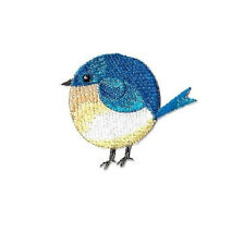 Bird - Blue Bird - Spring - Bird Watching - Chubby - Embroidered Iron On Patch