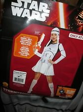 Adult Women STAR WARS STORMTROOPER COSTUME S 6-10 Dress Hat Socks Necklace NEW