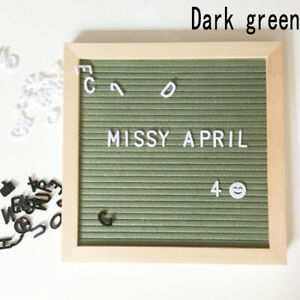 Wooden Letter Board Frame Changeable Symbols Message Boards for Home/Office