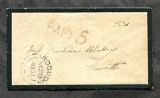 p942 - IROQUOIS UC Dundas 1861 B2 Cancel (Early) on Mourning Cover to Prescott