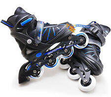 Junior 4 Wheel Adjustable Inline Skates Childrens Kids Boys Girls Roller Blades