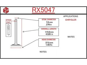 Engine Exhaust Valve ITM RX5047