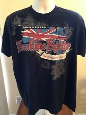VINTAGE FRONTLINE FIGHTER PROUD TO BE BRITISH, PROUD TO BE A FIGHTER T SHIRT XL