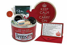 KEEP CALM & CARRY ON SURVIVAL KIT IN A CAN. New Job/Leaving/Retirement Gift Card