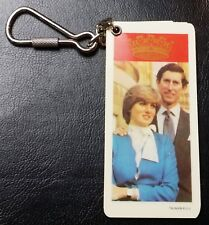 Vintage 1981 Royal Wedding Prince of Whales & Lady Diana Keychain