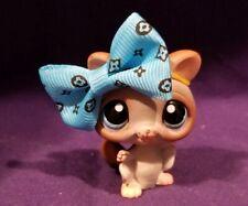 Littlest Pet Shop #1224 Sugar Glider Bat Brown Gray Peach Blue Dot Eyes