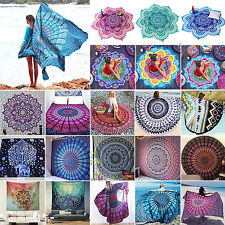 Bohemian Mandala Tapestry Hippie Throw Yoga Mats Beach Bikini Cover Up Towel Rug