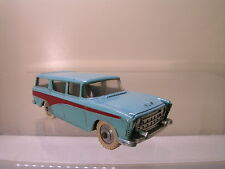 DINKY TOYS UK 173 NASH RAMBLER STATIONWAGON TURQUOISE BODY / RED FLASH 1958 1:43