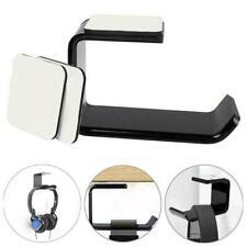 Headphone Stand Hanger Hook Tape Under Desk Dual Headset Mount Holder