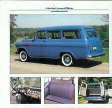 1957 CHEVROLET SUBURBAN CARRYALL 3 page Color Article CHEVY
