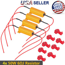 4pcs Load Resistor 50W 6RJ LED Decoder Fix Error Code Hyper Flash Turn Signal