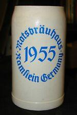 Mats Brauhaus~Ramstein, Germany 1955 Advertising 1 Litre Stoneware Stein