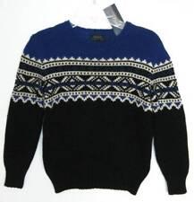 Ralph Lauren Boys Polo Black Multi Cotton Ski Sweater (6) NWT