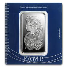 100 gram Silver Bar - PAMP Suisse (Fortuna, In Assay) - SKU #63215